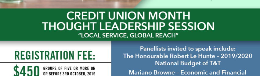 """CREDIT UNION MONTH THOUGHT LEADERSHIP SESSION – """"LOCAL SERVICE, GLOBAL REACH"""""""