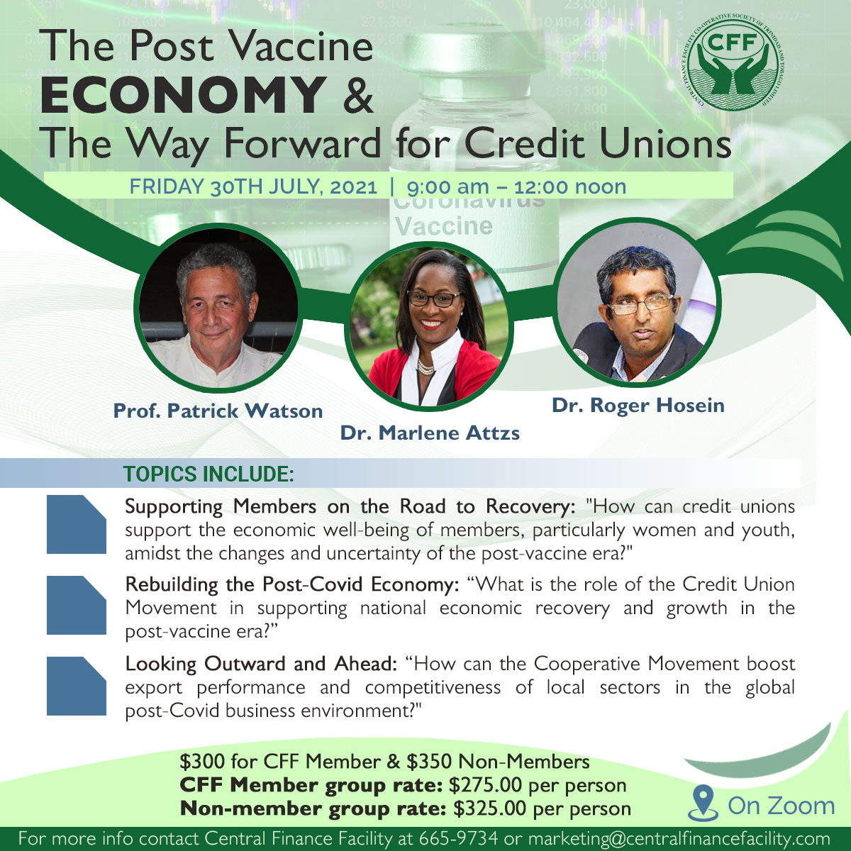 The Post Vaccine Economy and the Way Forward for Credit Unions Virtual Thought Leadership